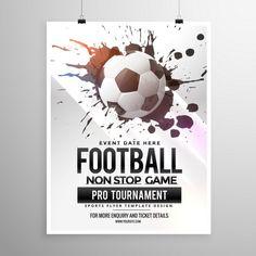 jogo de futebol de futebol panfleto torneio modelo de brochura Vetor grátis