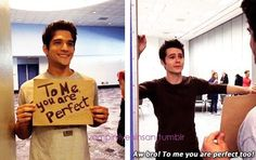 *THIS*. Tyler Posey and Dylan O'Brien #TeenWolf #YourPerfect