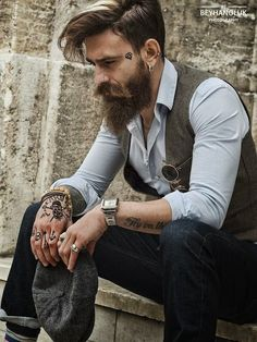 Tattoo Lust: Beards & Tattoos XV | Fonda LaShay // Design → more on fondalashay.com/blog