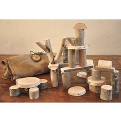 Natural Tree Branch Blocks made in Maine