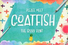 Goatfish Display Font by Creativeqube Design on @creativemarket