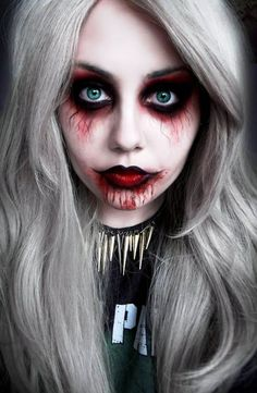 Vampire Girl Halloween makeup