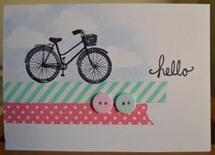 Little Miss Scrappy - Confessions of a Scrap Addict: Bicycle & washi tape cards