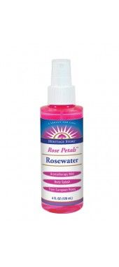 Rose Petals Rosewater - keep it in the fridge for a quick spritz to cool off and freshen up ($6.19 from Heritage Store)