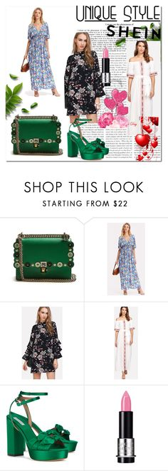"""""""Bez naslova #375"""" by ajisa-ikanovic ❤ liked on Polyvore featuring Fendi, Tabitha Simmons and MAKE UP FOR EVER"""