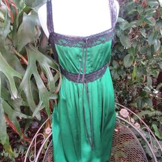 Betsey Johnson New York PURE HEAVEN Green SILK SEXY Party Evening Dress Small  #BetseyJohnson #SweaterDress #partyevening