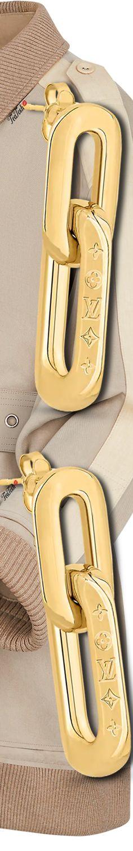 ❈Téa Tosh❈ #LouisVuitton, EDGE DOUBLE EARRINGS, LYOCELL CAR COAT #teatosh #LV Double Earrings, Micah Gianneli, Louis Vuitton, Bangles, Bracelets, Beige Color, Coat, Apple Watch, Costume Jewelry