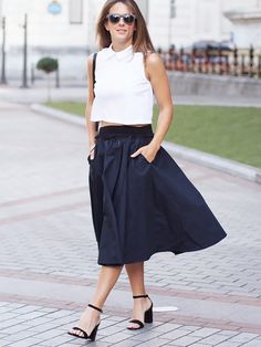 Znalezione obrazy dla zapytania summer  midi skirt