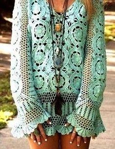 Boho - tunique ajourée style boho gypsy
