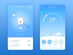 Air Conditioner Controller Mobile App by Grace Saraswati on Dribbble Web Design, Best App Design, App Ui Design, User Interface Design, Flat Design, Design Layouts, Mobile App Design, Mobile Ui, Dashboard Mobile