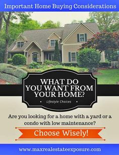 What are the most important considerations before buying your first home? See some of the things first time buyers should think about before making the leap into home ownership:  http://www.maxrealestateexposure.com/what-consider-before-buying-first-home/