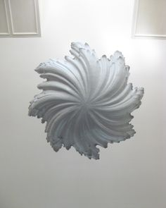 View from below the Shell Chandelier by WP Sullivan Plaster Resin