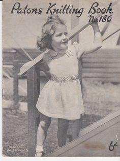 Vintage 1940s Paton's & Baldwins Knitting and от jennylouvintage