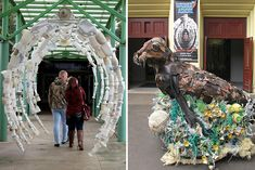 """Creative Art Projects Using Waste to Visualise and Fight Pollution"""" by Debra Higgson Art From Recycled Materials, Recycled Art, Statues, Waste Art, Trash Art, Plastic Art, Environmental Art, Public Art, Sculpture Art"""