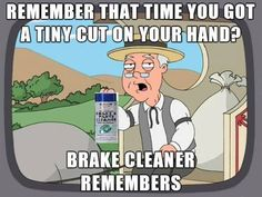 If you have ever got brake cleaner on your hand you understand. #RoughneckLife #OilfieldLife
