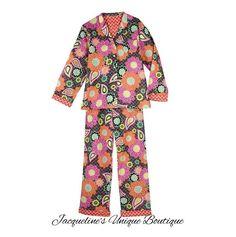 NWT VERA BRADLEY Pajama Pants and Top in  Ziggy Zinnia XSmall #VeraBradley #PajamaSets