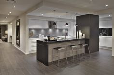 Gourmet kitchen with extended bench preparation surfaces