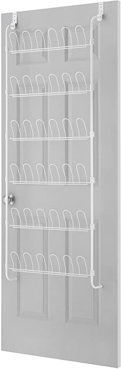 Amazon.com: Whitmor 18-Pair Over The Door Shoe Rack, White: Home & Kitchen Scarf Organization, Home Organization, Best Shoe Rack, Long Couch, Big Cushions, Door Brackets, Hanging Shoe Organizer, Hanging Shoes