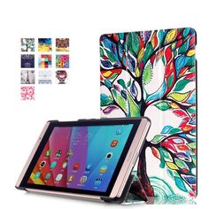 Printed smart cover case folio stand cover For Huawei MediaPad M2 M2-801W M2-803L Huawei M2 8.0 tablet case +screen protector  — 560.98 руб. —