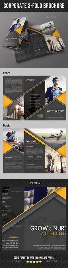 Corporate Business 3-Fold Brochure Template PSD