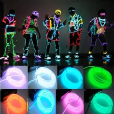 Flexible El Wire Rope Neon Light Glow with Controller for Party Dance Car Decor | eBay