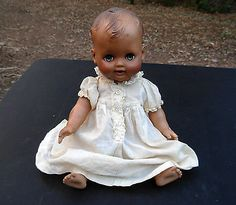 "VTG circa 1950 13"" MADAME ALEXANDER BABY DOLL Sleep Eyes,Drink,Wet,Cry w/ Dress"