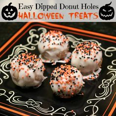 Easy Halloween White Chocolate Treats