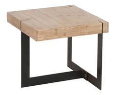 Table basse CHIN, bois de sapin - L50