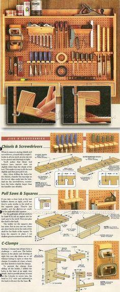DIY Pegboard Tool Holders - Workshop Solutions Plans, Tips and Tricks | WoodArchivist.com