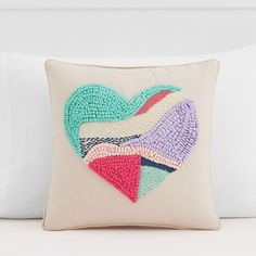 Textured Heart Pillow Cover