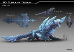 Ice Dragon, Mido Lai on ArtStation at https://www.artstation.com/artwork/ENge0