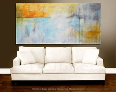 Original 72 large painting abstract art 6ft huge by RawArtGallery, $649.00