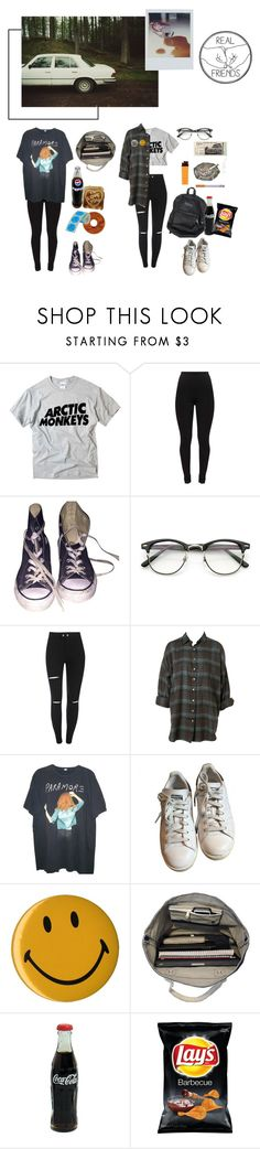 """""""Sarcasm Meets Brutal Honesty"""" by asmolcactuss ❤ liked on Polyvore featuring INDIE HAIR, Converse, Hot Topic, adidas, Andy Warhol and Esperos"""