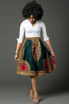 Dashiki skirt, african women's skirt, Angelina style, gathers skirt, African American Fashion, African Fashion Skirts, African Fashion Designers, African Inspired Fashion, African Print Fashion, Skirt Fashion, Fashion Outfits, Womens Fashion, Fashion Ideas