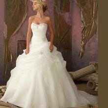 Hot 2015 chegada nova frete grátis A linha De Vestido De Noiva Vestido De Noiva querida branco / marfim vestidos De casamento OW 3199 alishoppbrasil