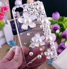 Bling girls Mirrors | DIY mirror girl rhinestone bling phone case for iphone 4g 3d bling ...