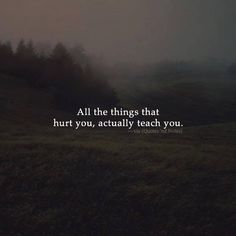 All the things that hurt you actually teach you. via (http://ift.tt/2aEBjYR)