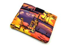 Hand Crafted Tablet Case from Giraffe Fabric/Case for:iPad,Kindle Fire HDX,Samsung Galaxy Tab, Google Nexus, iPad Air, Nook HD #ipad #kindle #giraffe #africa #animallovers