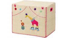 Großer RICE Spielzeugkorb Giraffe Löwe