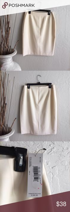"Women Straight Cream Pencil Skirt Beige sexy 12 XL Brand new with label straight cream pencil skirt. Color in picture very close to the skirt. Great for office wear, business, Church, etc.  very elegant fit.  Waist 15 1/2"", length 24 1/2"".  Size 12. Bring it home today! Ellen Tracy Skirts Midi"