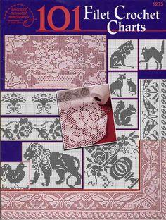 101 Filet Crochet Charts - Nicoleta Danaila - Álbuns da web do Picasa.. Free book!