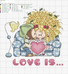 ♥Meus Gráficos De Ponto Cruz♥: Amor