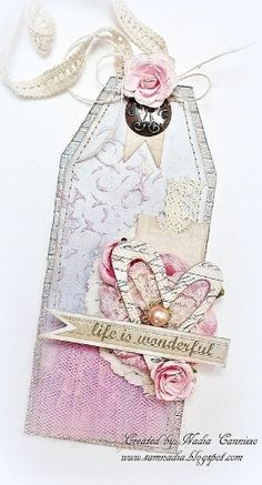 Life Is Wonderful Tag **SCRAPS OF ELEGANCE JANUARY KIT** - http://Scrapbook.com