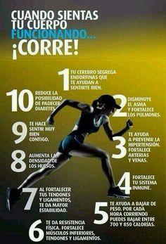 10 beneficios del #running. ¿Aún no te has decidido?                                                                                                                                                      Más