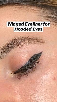 Edgy Makeup, Makeup Eye Looks, Eyeliner Looks, Eye Makeup Art, Pretty Makeup, Simple Makeup, Skin Makeup, Easy Eye Makeup, Grunge Eye Makeup