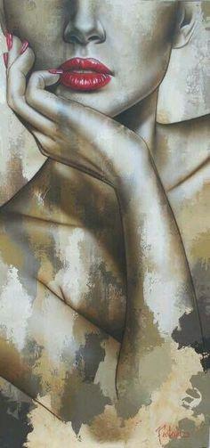 Acrylic painting by Sarah Fecteau Art Sketches, Art Drawings, L'art Du Portrait, Face Art, Art Pictures, Painting & Drawing, Pop Art, Art Photography, Canvas Art