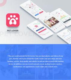 Pet Lover - Pet Social Network & Health Tracking UI Kit on Behance
