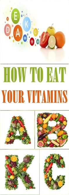 How to eat your vitamins #vitamins