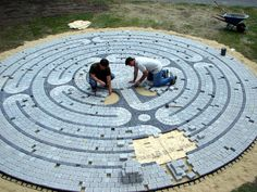 I would love to have a walking labyrinth in the middle of a garden someday.