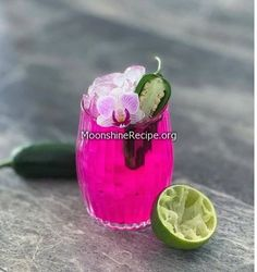 How To Make Hot Pink Cocktail